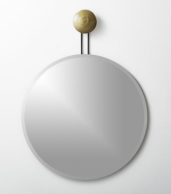 CB2 Dot Brass Suspended Mirror 36