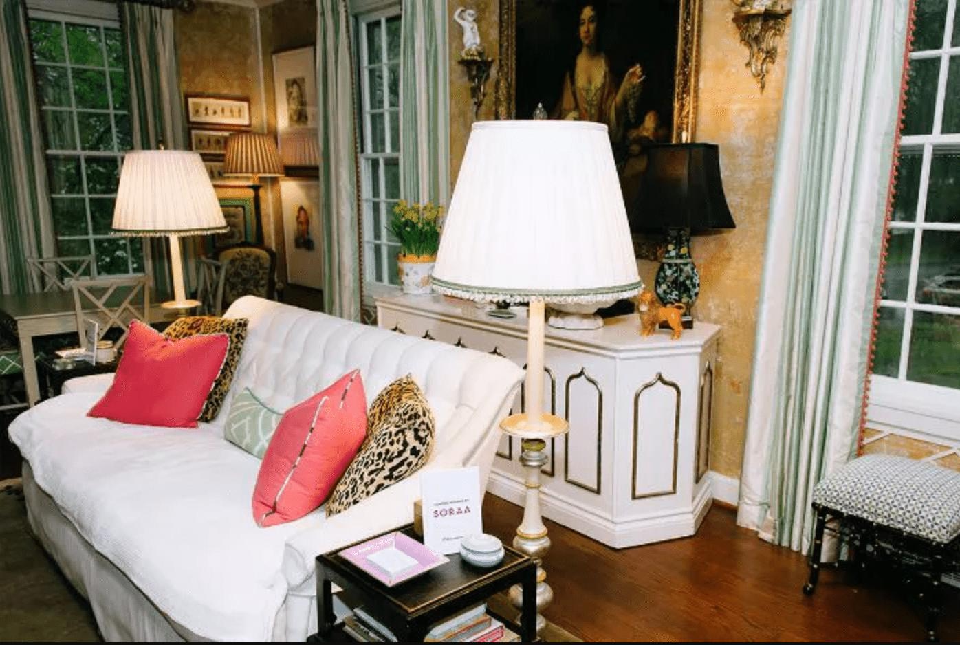 Living room with layered lighting