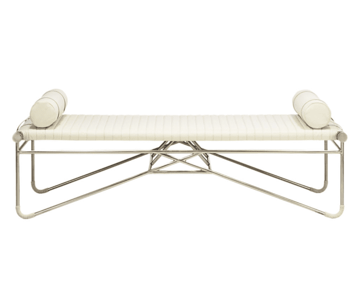 CB2 x Goop La Strizza Bench with Bolster Pillows