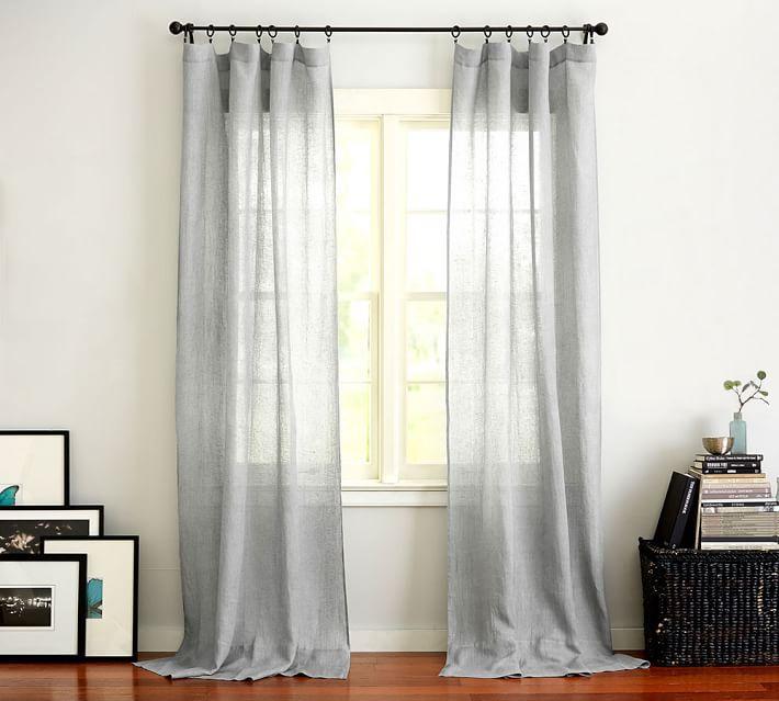 Pottery Barn sheer curtains