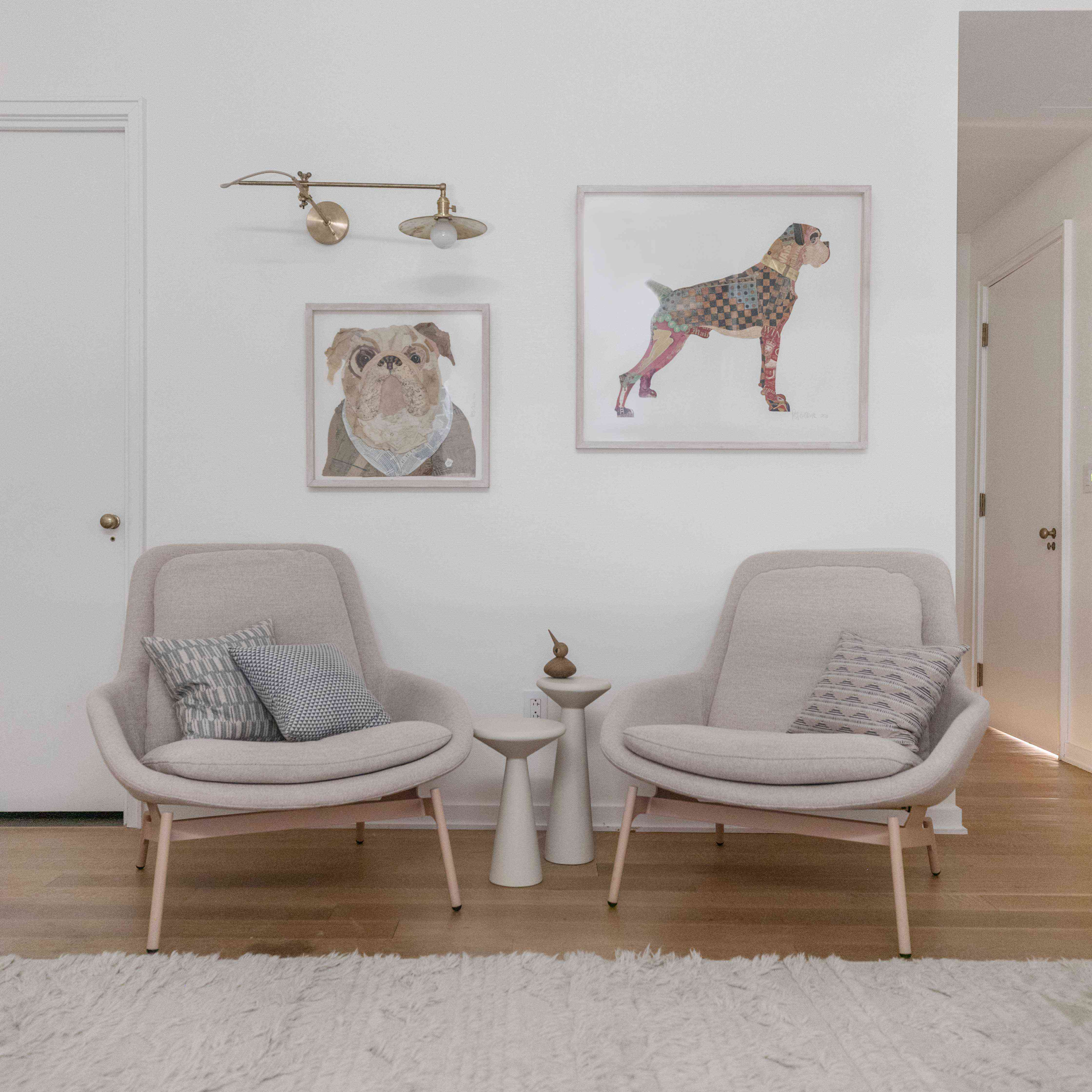 yael weiss home tour - children's bedroom reading chairs