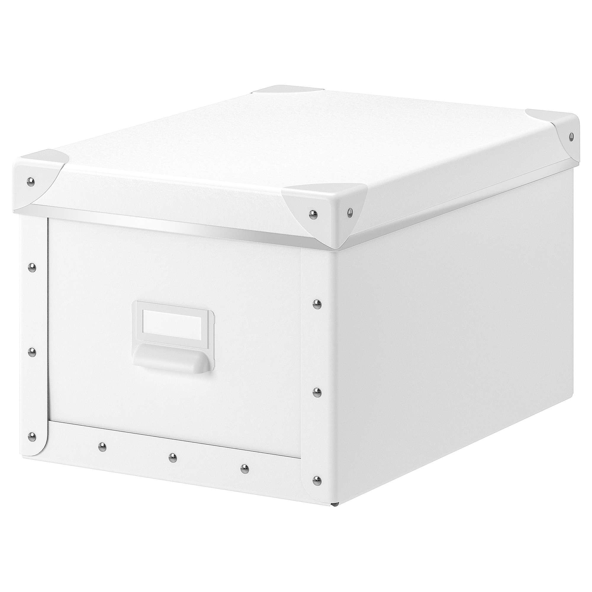white storage box with lid Ikea