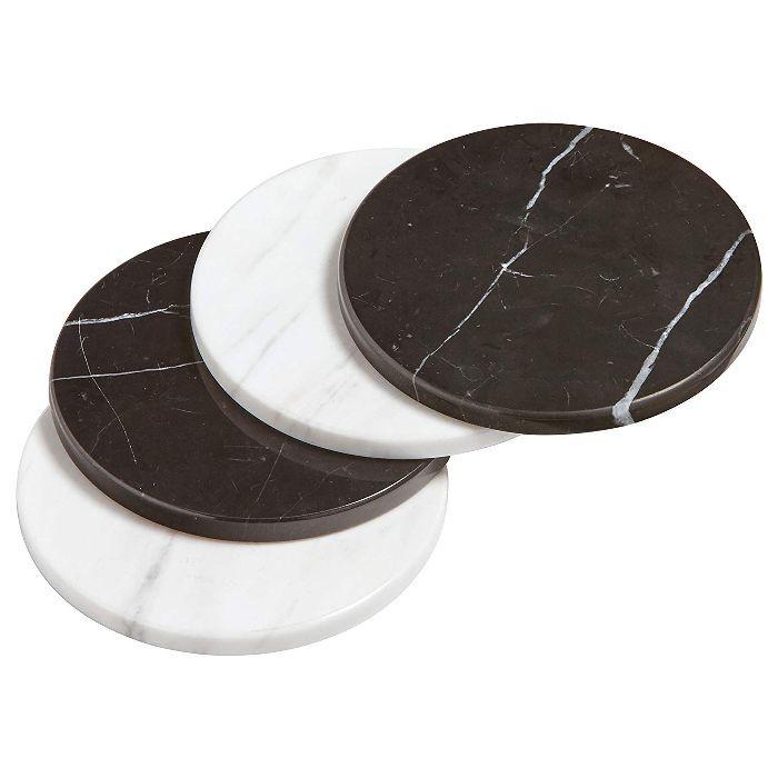 Rivet Set of 4 Marble Coasters