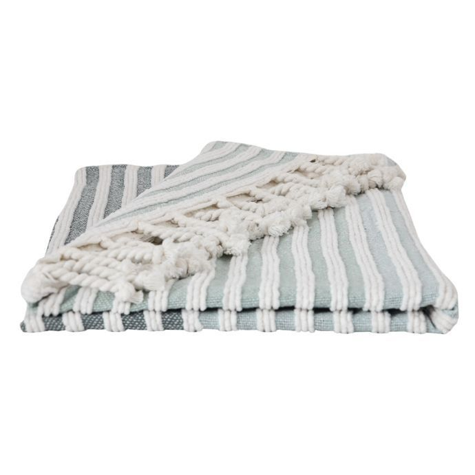 Bee & Willow Home Striped Throw Blanket in Navy