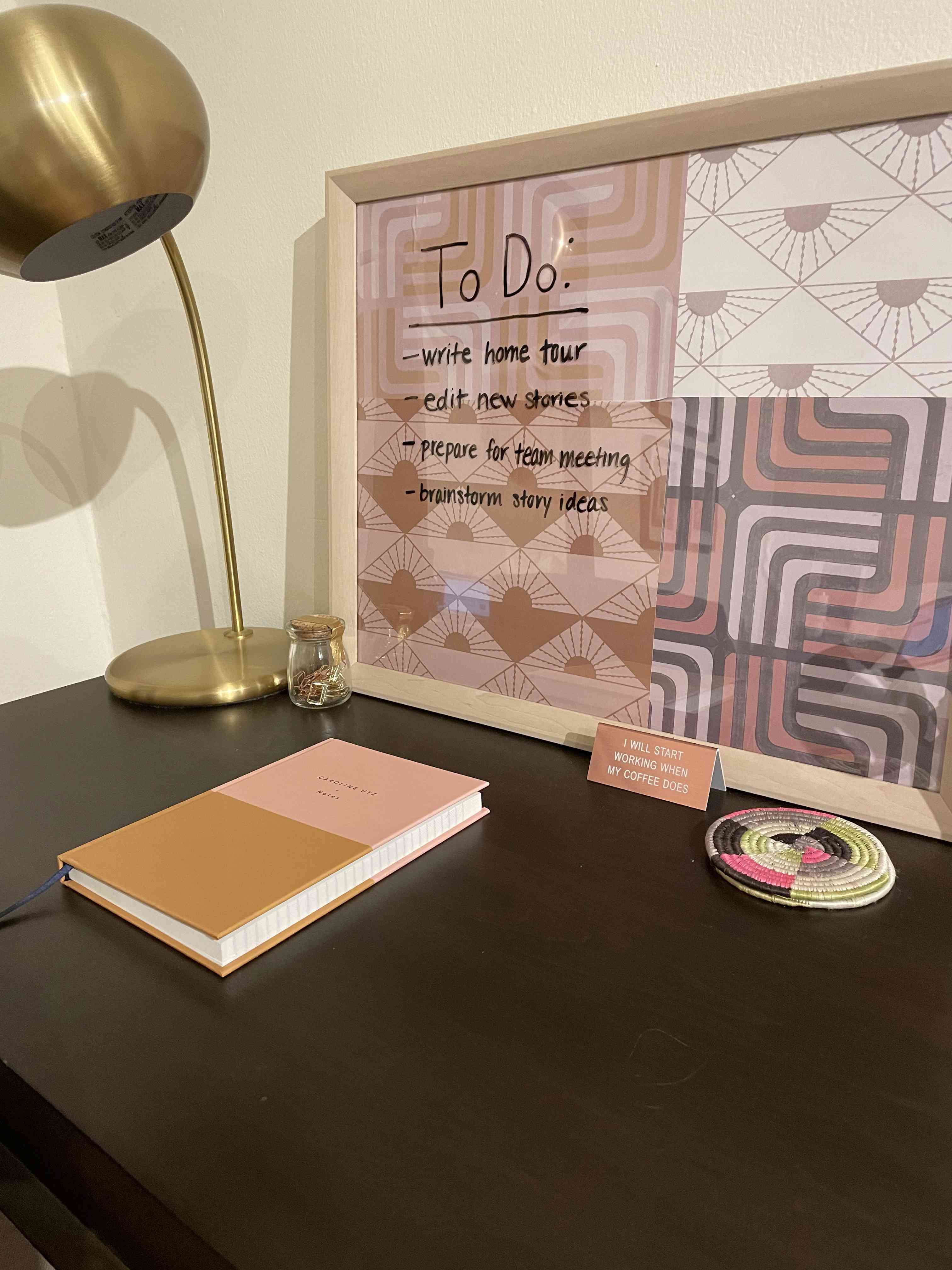 easy diy dry erase board finished with to do list written on it