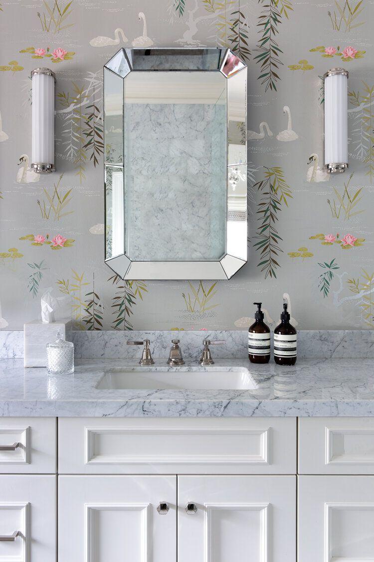 gray bathroom wallpaper