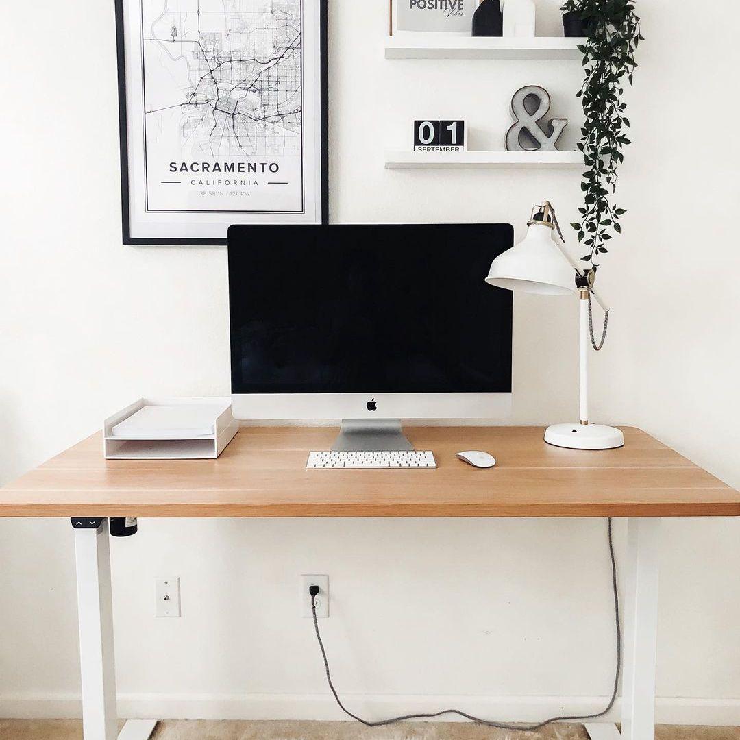 Modern desk with simple decor