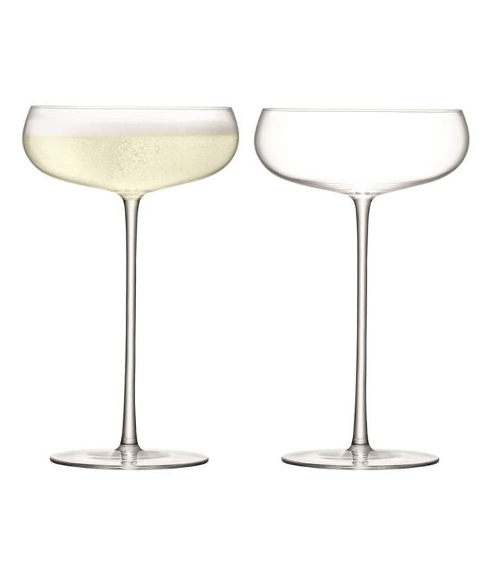 LSA Wine Culture Saucer Champagne Glasses, Set of 2