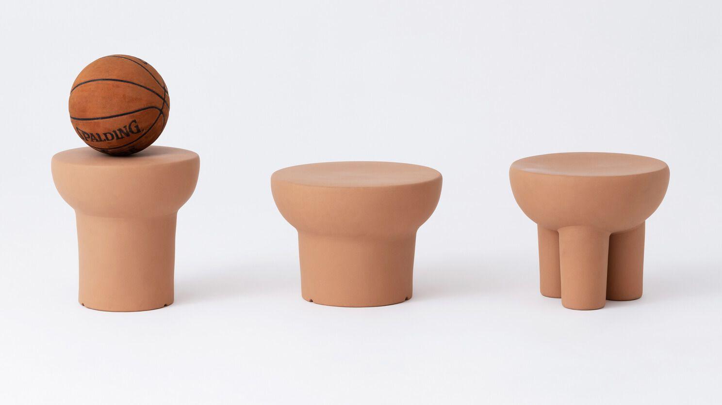 terracotta tables stools