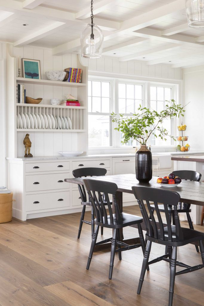 best kitchen ideas - built-in shelving with dish storage