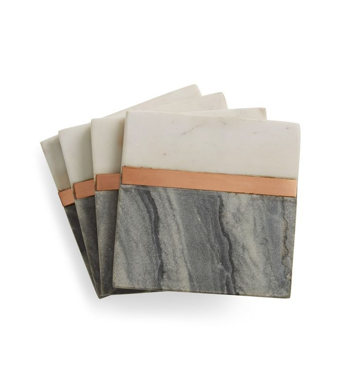 Nordstrom At Home Set Of 4 Marble Coasters