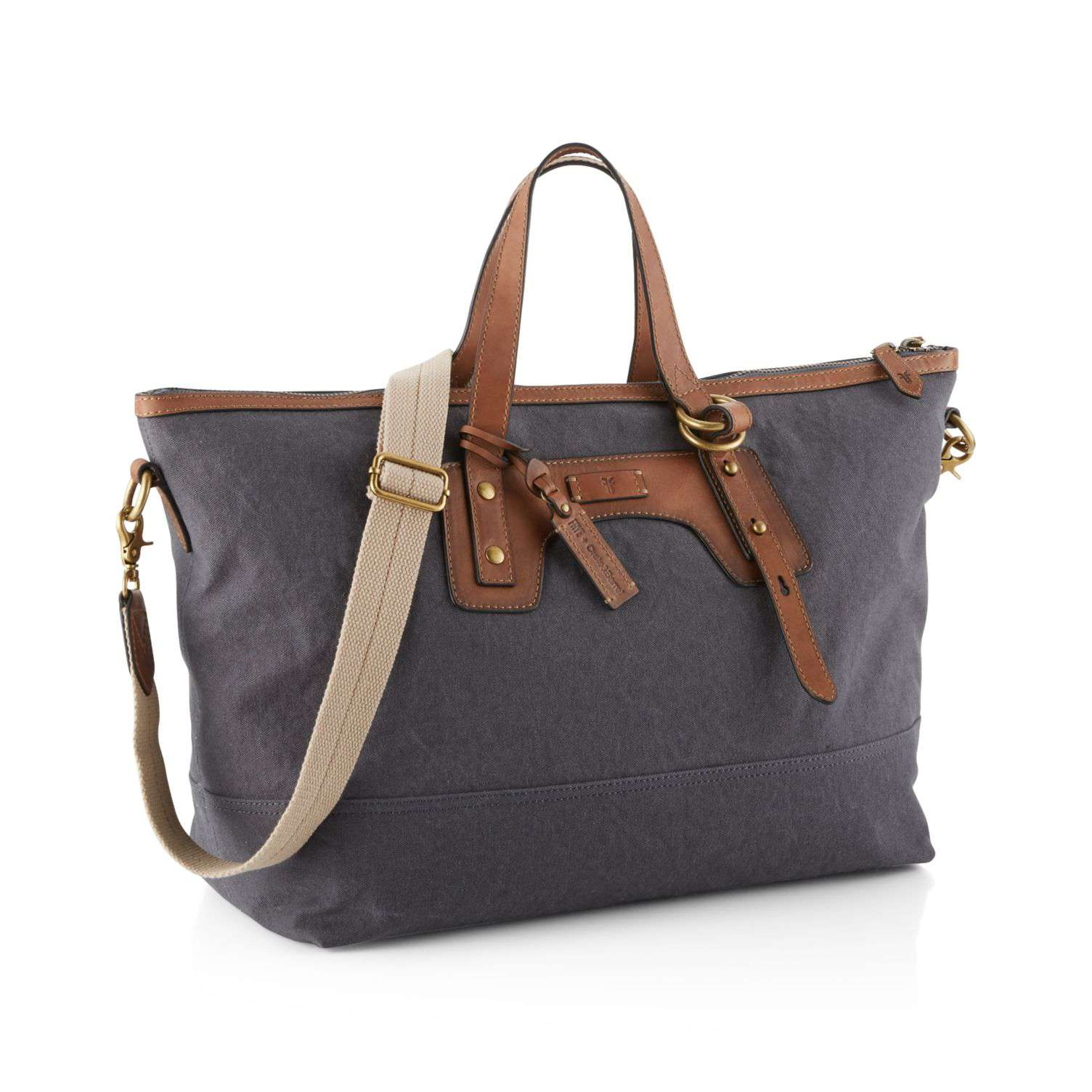 Blue-Grey Canvas Overnight Bag