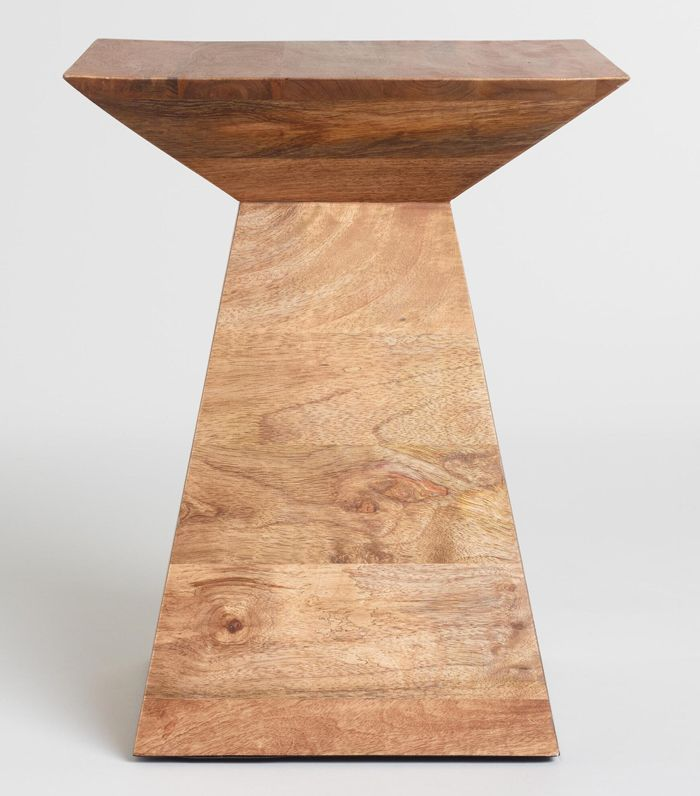 Wood Anton Accent Table: Natural by World Market