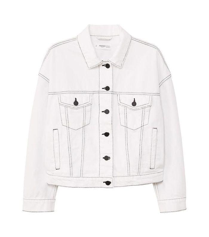 Contrasted seams denim jacket