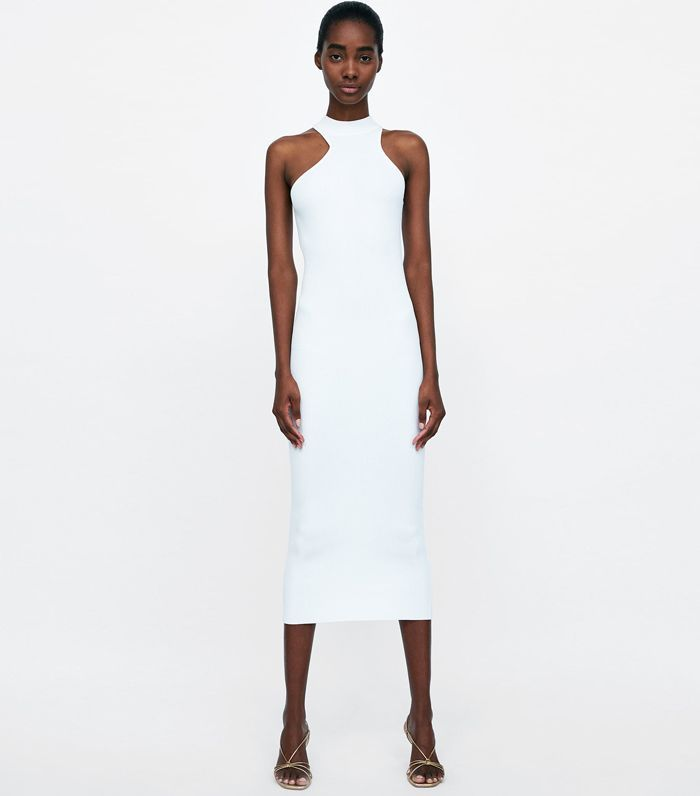 Zara Cut-Out Ribbed Dress