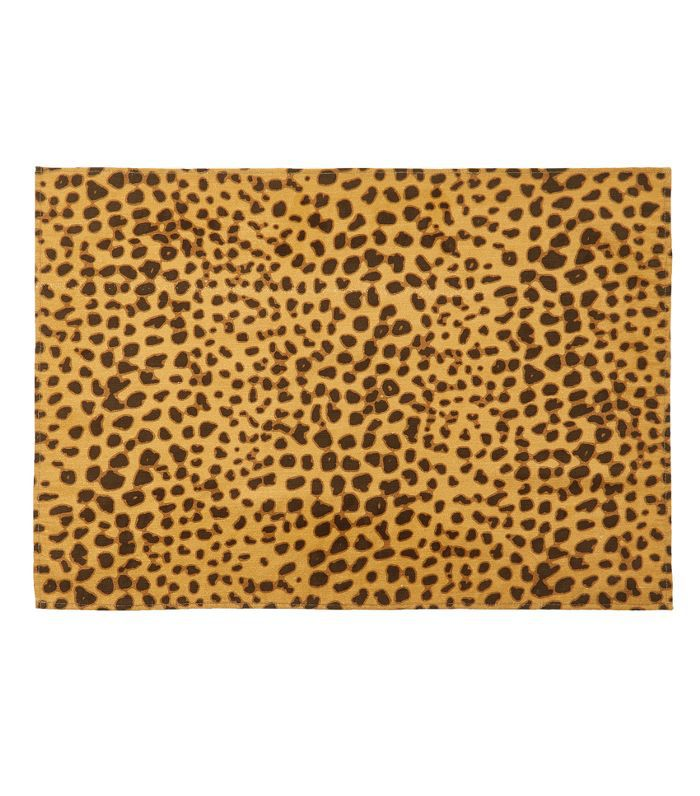 D'Ascoli Set-of-Four Leopard Rectangle Placemat