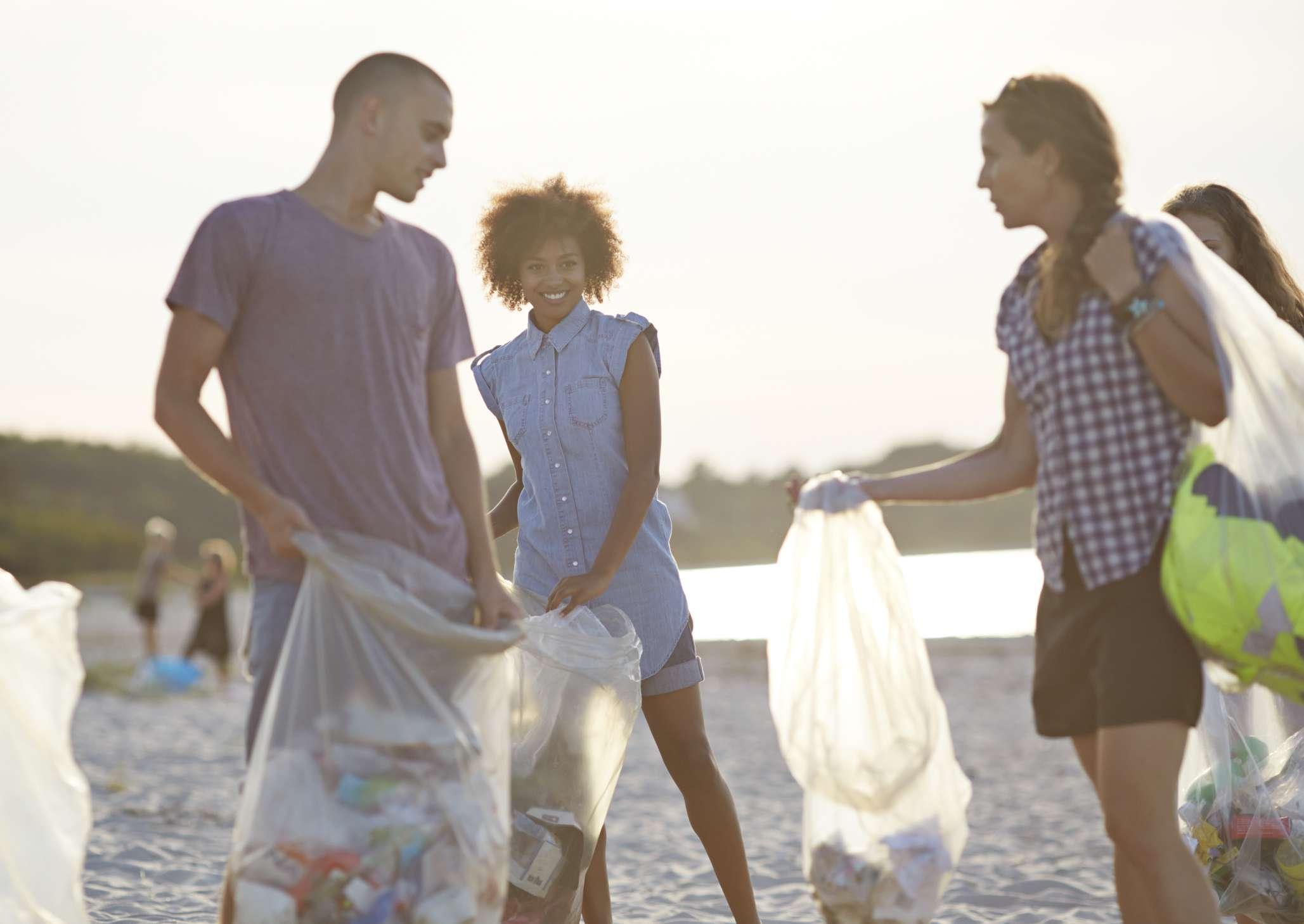 Volunteering on the beach