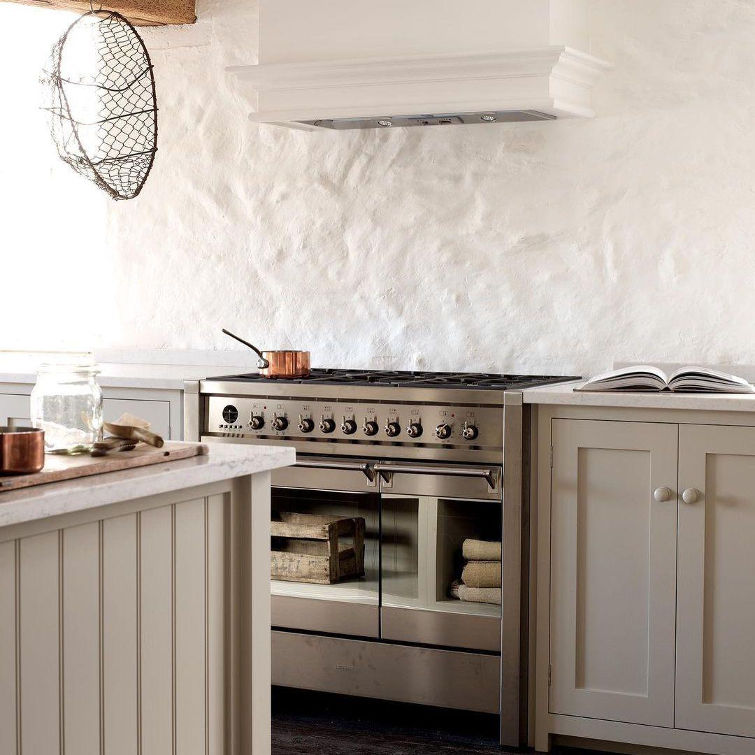 Kitchen with textured walls