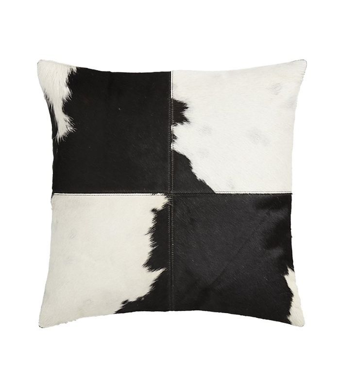 CB2 Abele Spotted Cowhide Pillow with Down-Alternative Insert