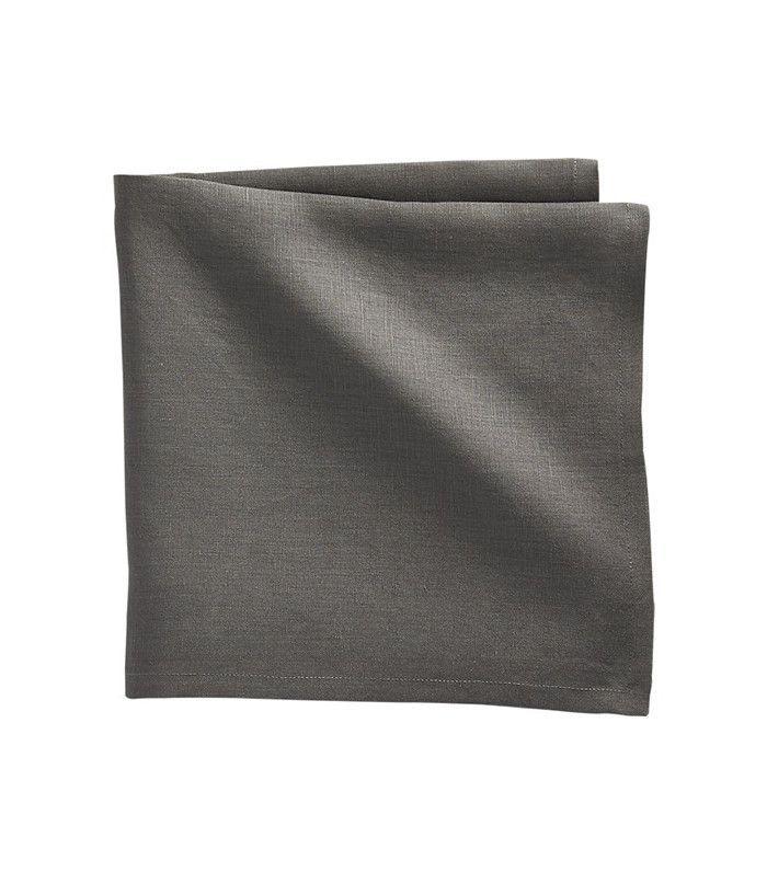 CB2 Bolt Grey Linen Napkin