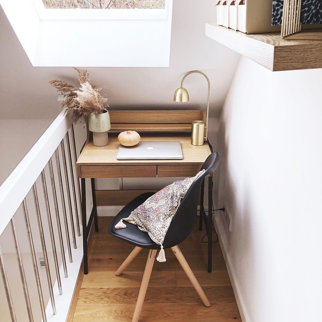 Desk at the top of the stairs