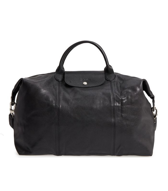 Le Pliage Leather Duffel Bag - Black
