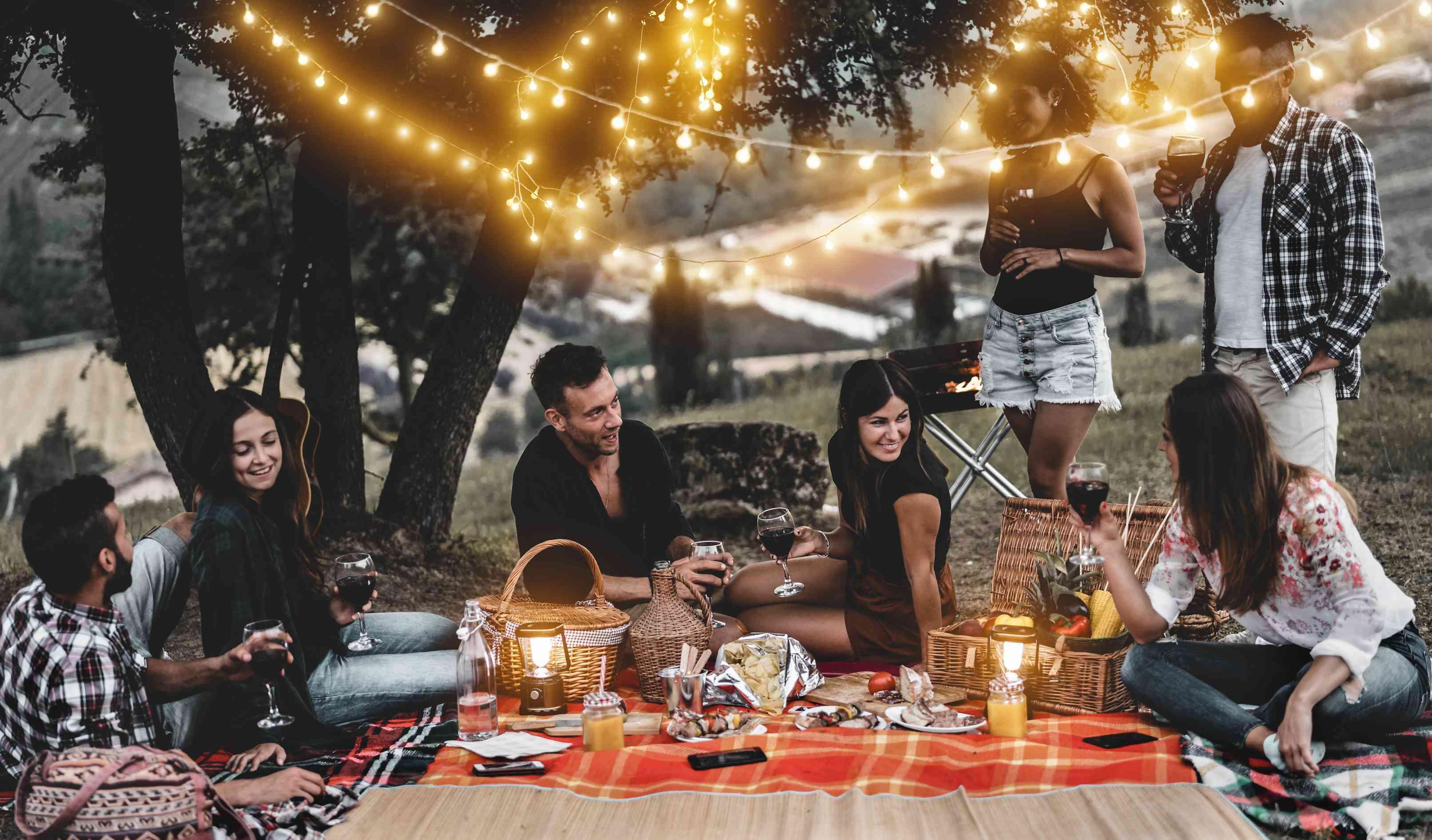 friends at vineyard