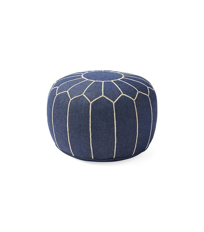 Moroccan Denim Pouf