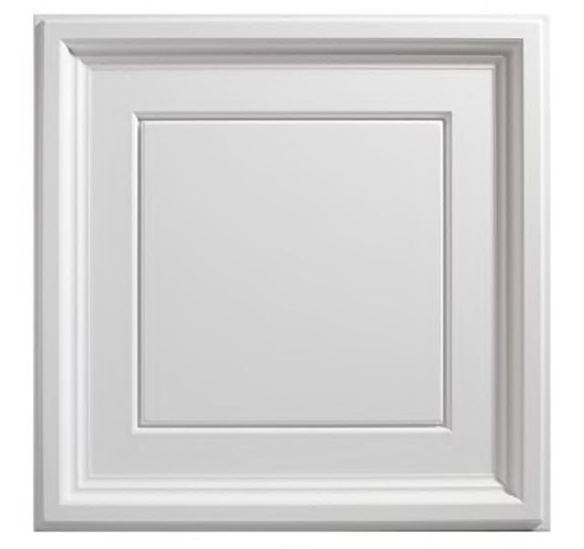 Coffer White 2 x 2 ft. Lay-in Ceiling Tile