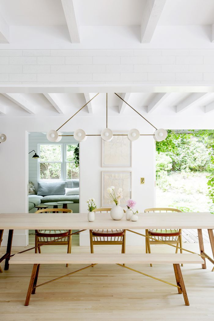 dining room in Hamptons Weekend Retreat