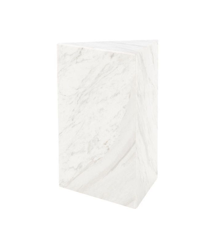 CB2 Tri White Marble Side Table
