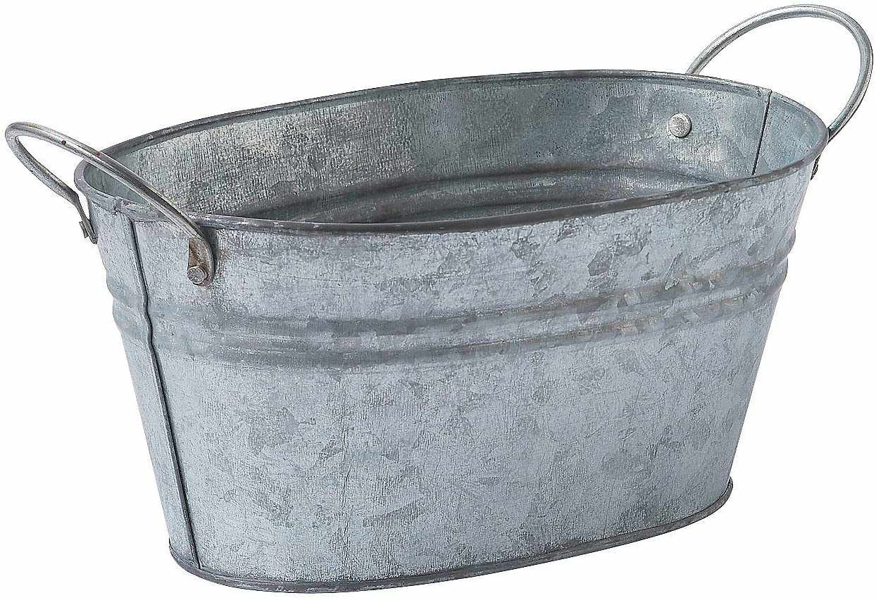 Galvanized Oval Bucket Container