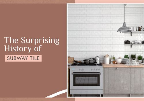history of subway tile - subway tile in a kitchen