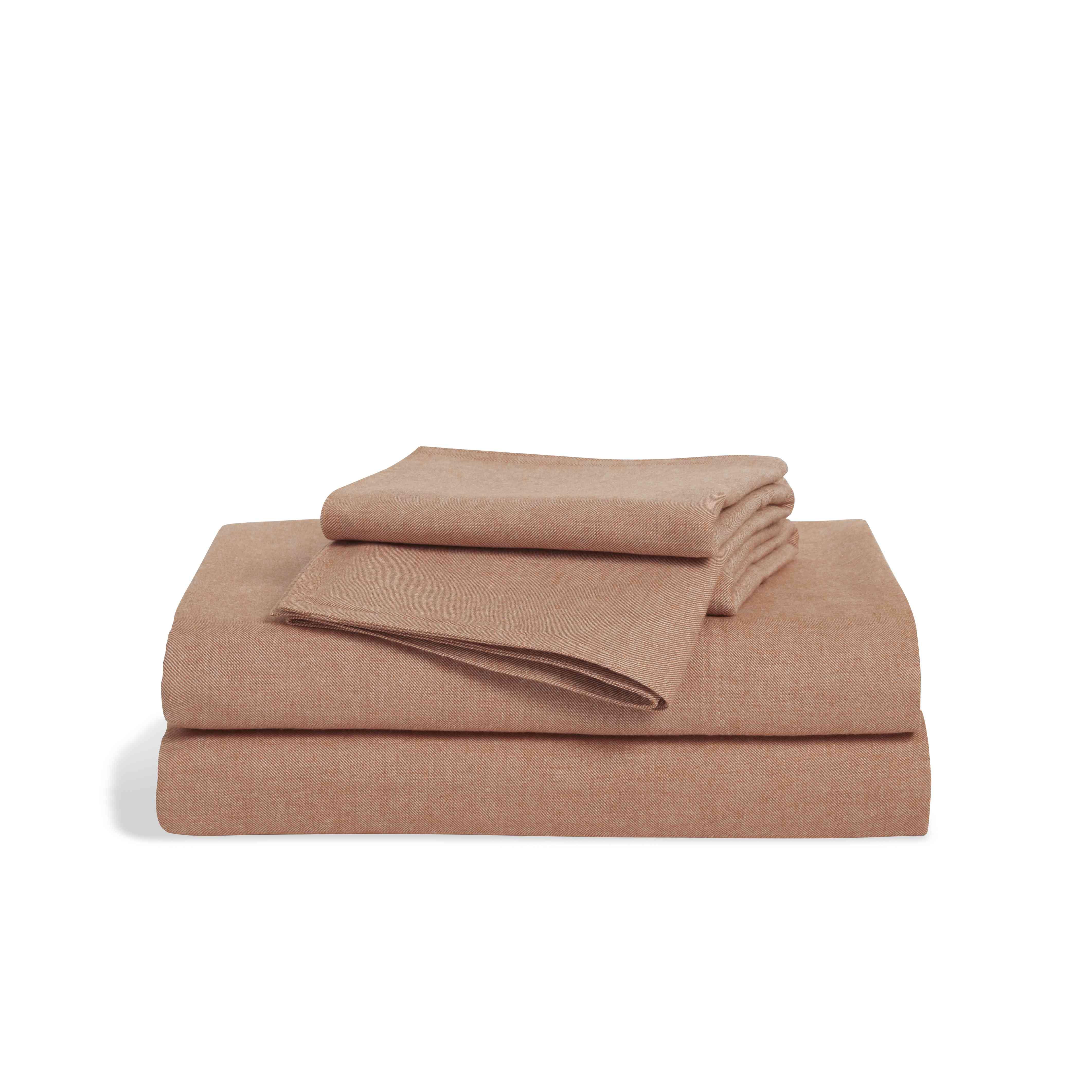 Rust Heathered Cashmere Sheet