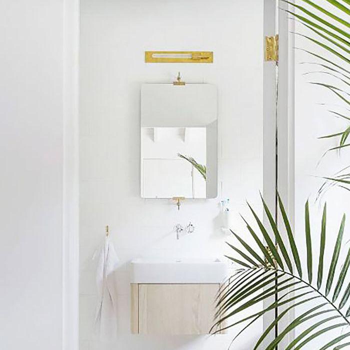 Best Bathroom Trends of the Year — Minimal Brass Lighting