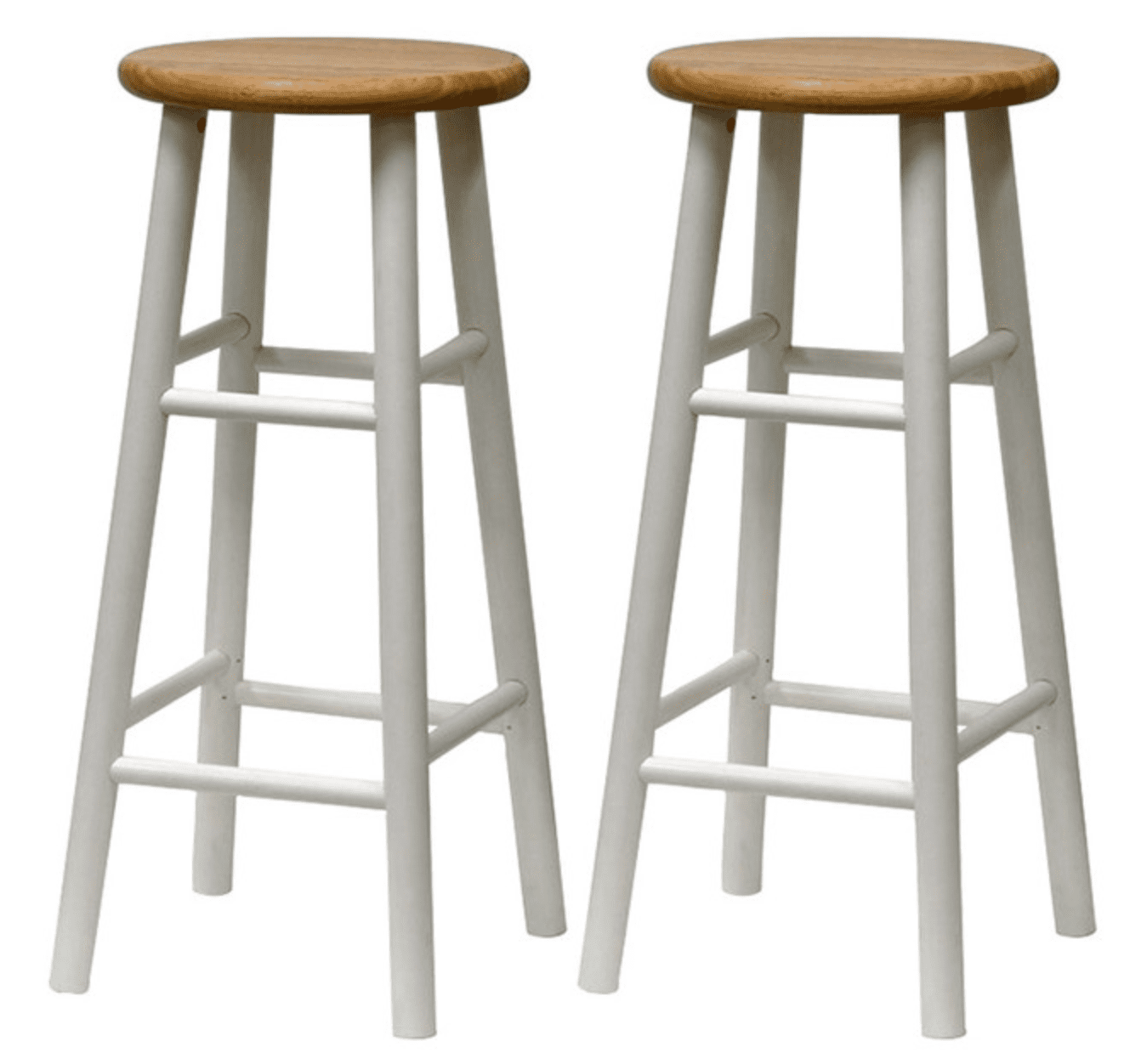Set of 2 beveled stools by Winsome Trading, Inc.
