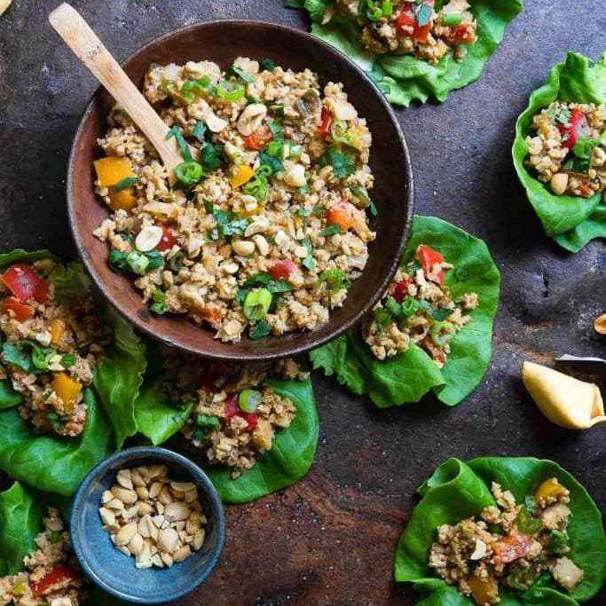 asian lettuce wrap