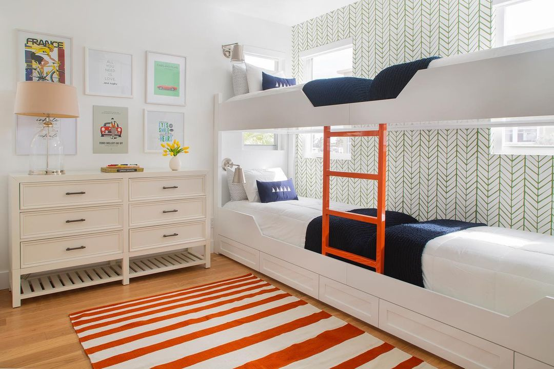 Colorful room with bunk beds