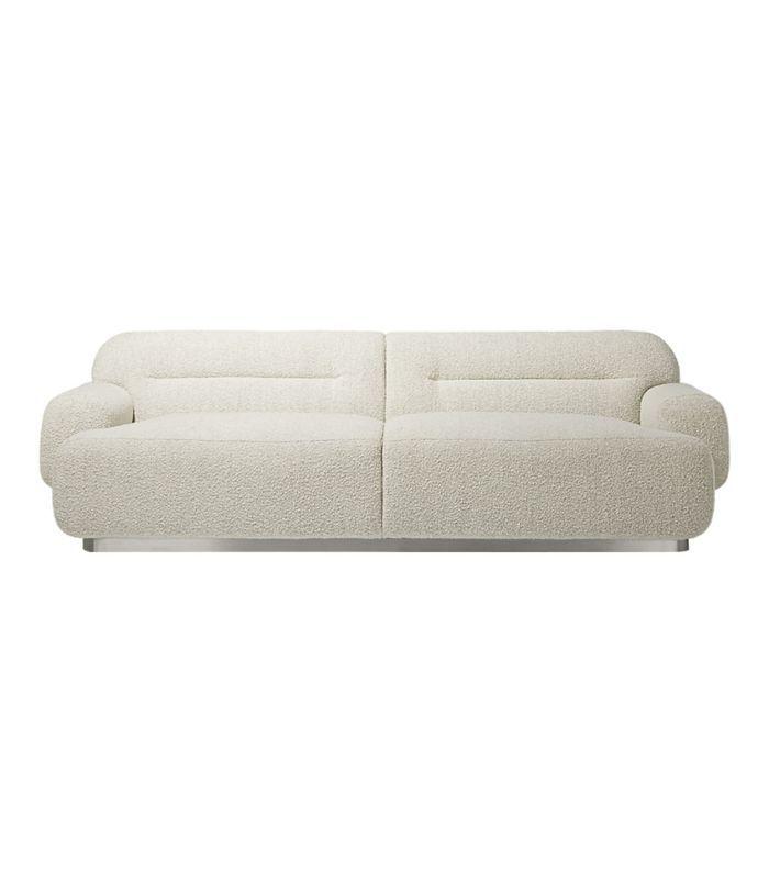 CB2 Logan Grey Boucle Sofa