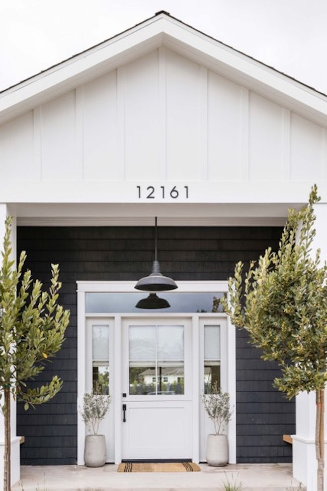 House with dark gray entryway