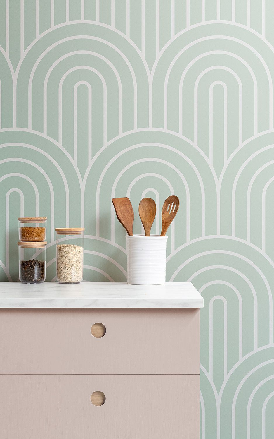 20 Gorgeous Wallpaper Backsplash Ideas