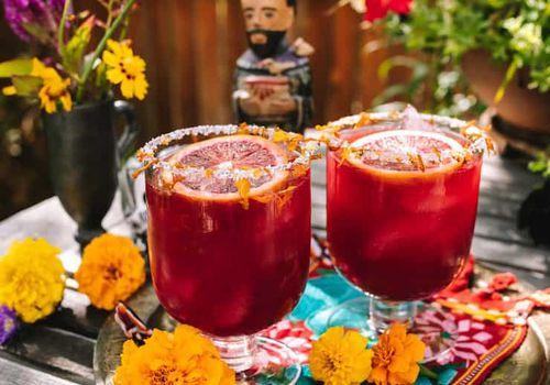 Margaritas de naranja sanguina