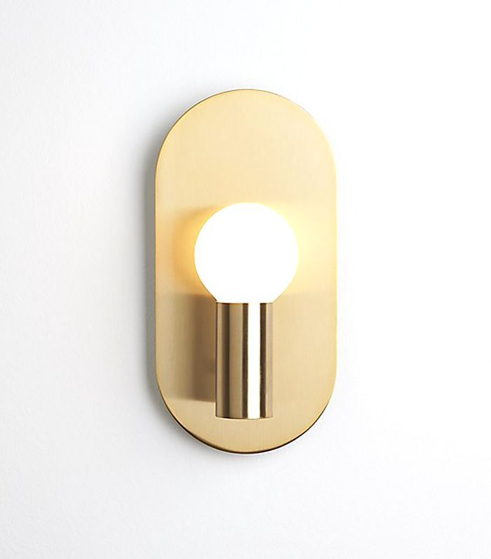 CB2 Plate Brass Wall Sconce