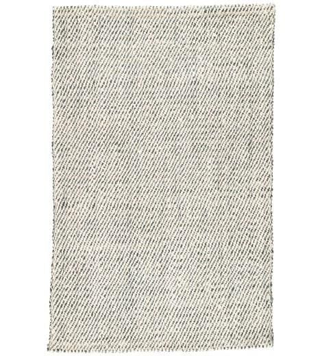 Nambia Jute Rug, White and Gray