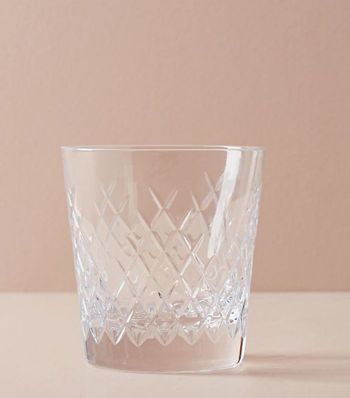 Soho Home Barwell Cut Crystal Rocks Glass