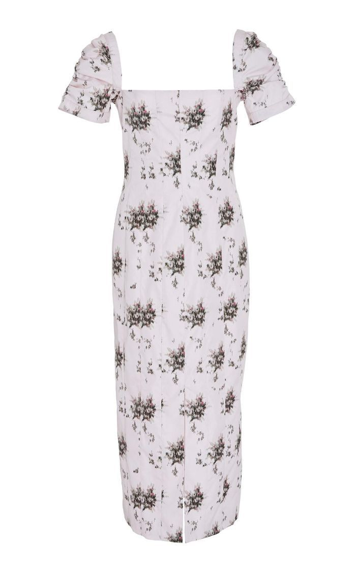 M'O Exclusive Odilia Floral Poplin Midi Dress
