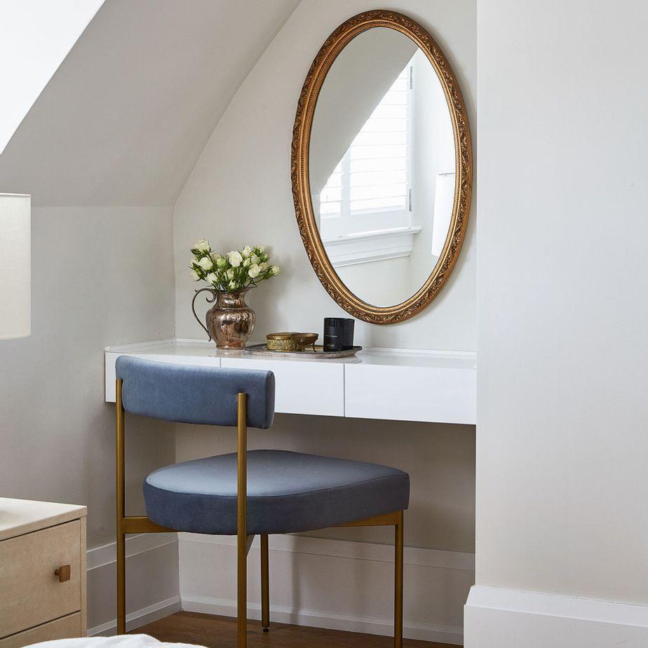 Bedroom nook with vanity station