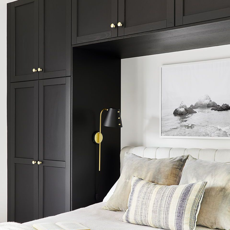 guest bedroom ideas with built-in storage