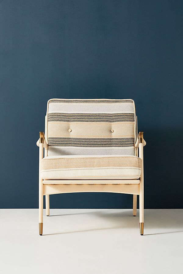 Anthropologie Castine-Striped Haverhill Chair