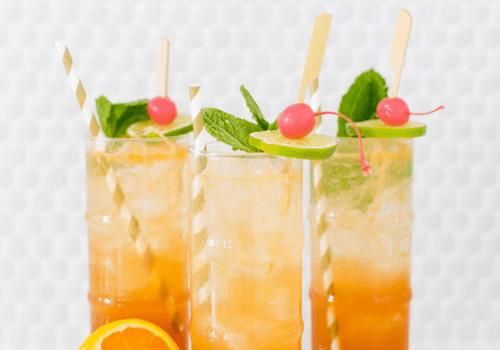 Esmeralda Fizz sparkling rum cocktail